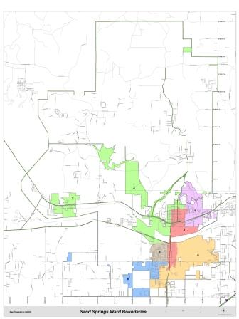 Sand Springs City Council Wards